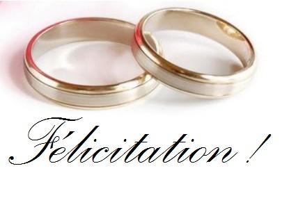 flicitations aux jeunes maris de lt - Texte Flicitation Mariage